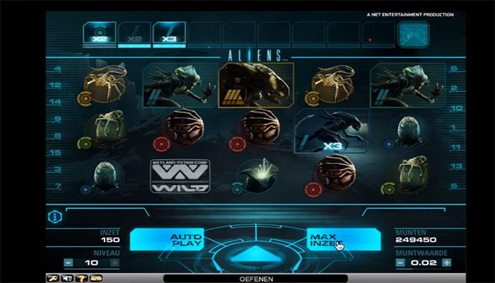 aliens spelautomater om filmer