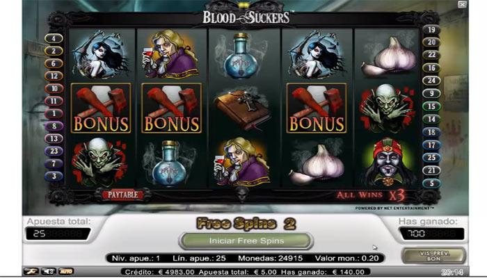 Hög återbetalning spelautomater Blood Suckers