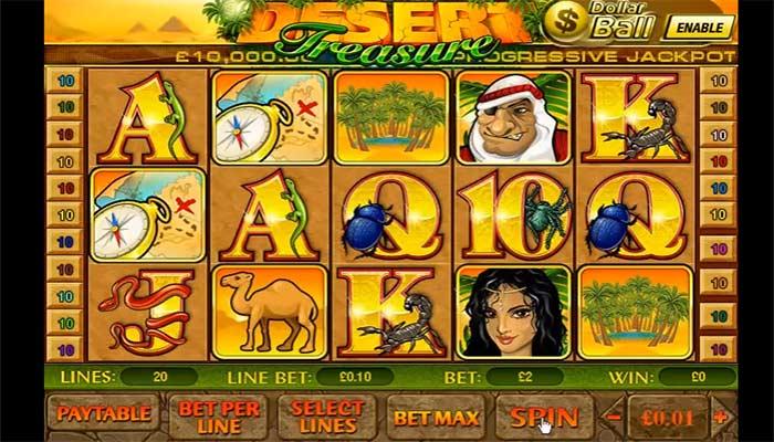 Playtech slots Desert Treasure online