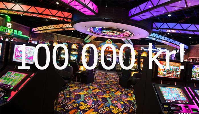 Vinn 100 000 kr i jackpot