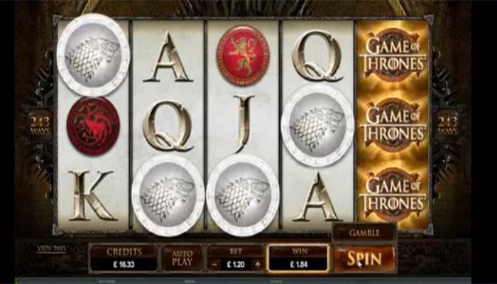 Game of Thrones serie casino spel