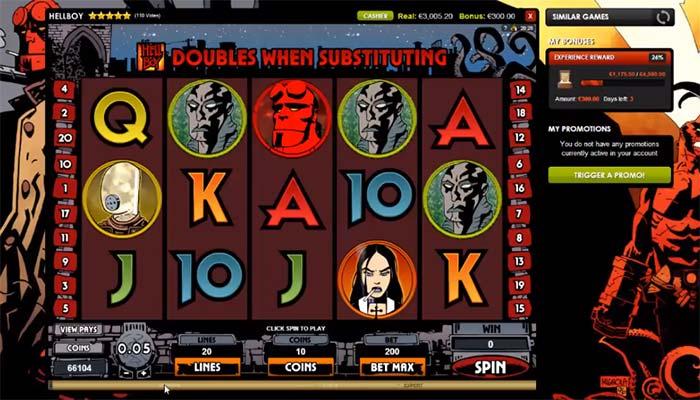 Spelautomater online om hellboy slot