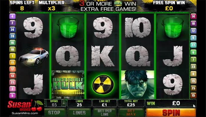Spelautomater online om incredible hulk