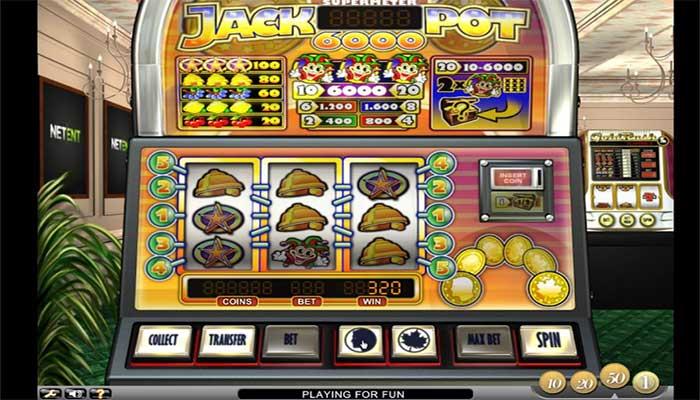 Jackpot 6000 hög återbetalnings spelautomat