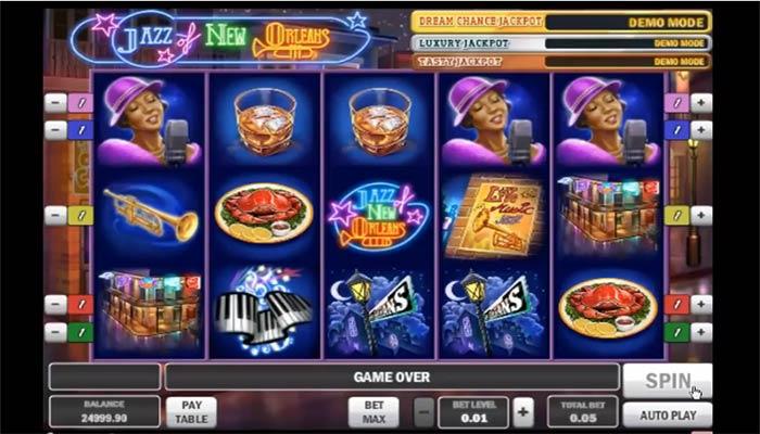 Spela Big Easy Vegas på nätet Jazz of New Orleans