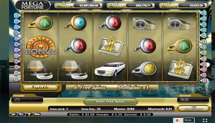 Mega Fortune spelautomater online