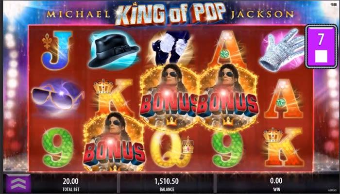 King of Pop Michael Jackson spelautomat