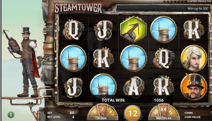Steam Tower gratissnurr spelautomat