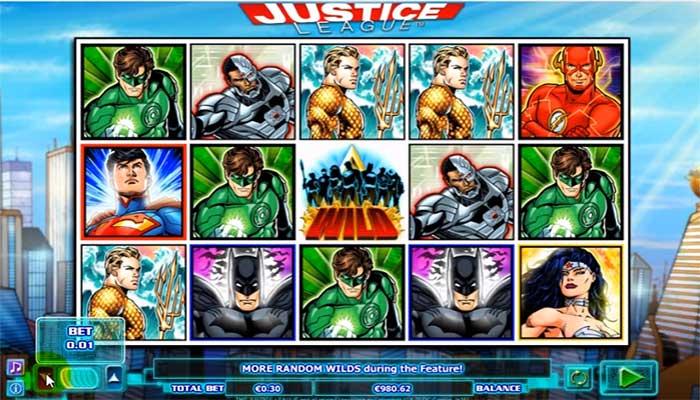 Justice League spelautomater NextGen