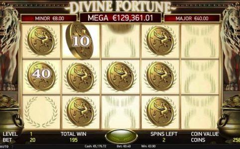 Divine Fortune spelautomat med progressiv jackpott